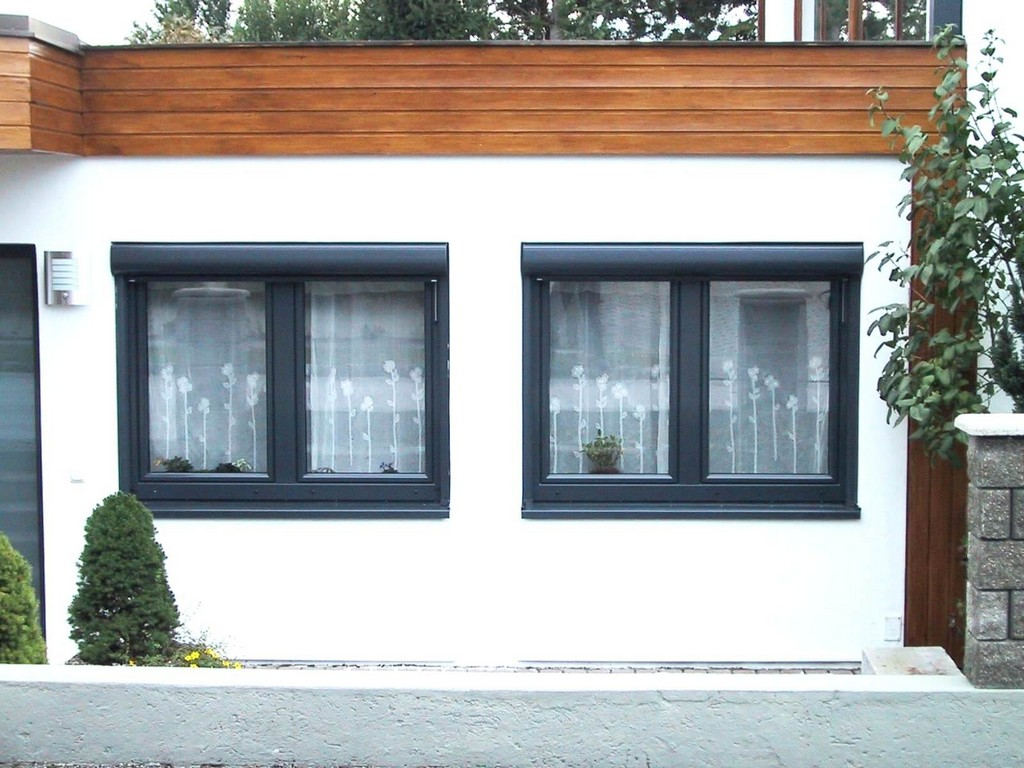 Kunststofffenster Anthrazit Fenster Mit Vorsatzrollladen In Throughout Proportions 1600 X 1200