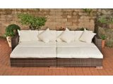 Lounge Bett Rattan Garten with measurements 1200 X 1200